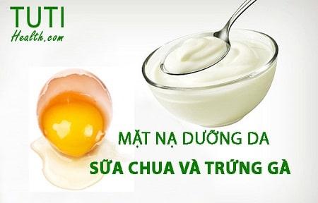 Mặt nạ trị mụn bằng trứng gà và sữa chua