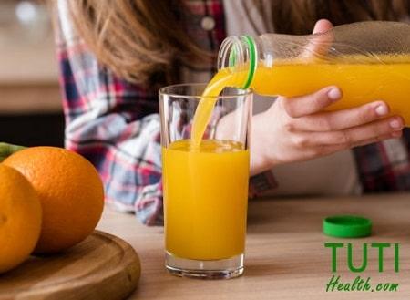 Tác dụng của nước cam tươi