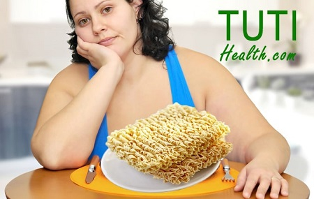 Tác hại của ăn nhiều mì tôm có thể gây béo phì