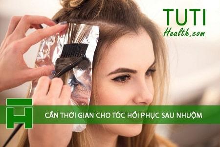 Mái tóc cần thời gian nghỉ ngơi, hồi phục sau khi nhuộm