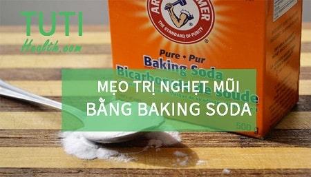 Mẹo trị nghẹt mũi bằng baking soda