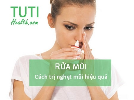 Rửa mũi - Cách trị tắc mũi hiệu quả