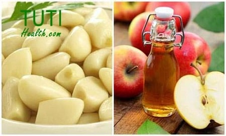 Tỏi và giấm táo