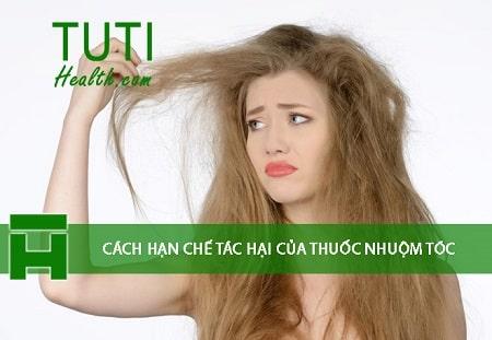 Cách hạn chế tác hại của thuốc nhuộm tóc