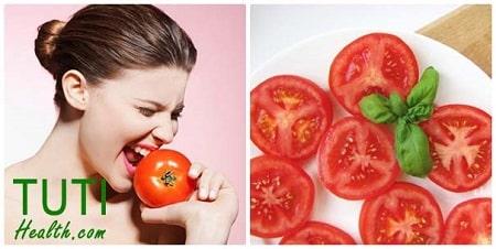 Giảm sưng mụn cấp tốc bằng cà chua