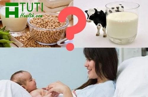 Mẹ sau sinh nên uống sữa gì thì tốt