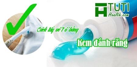 Cách tẩy vết ố bằng kem đánh răng