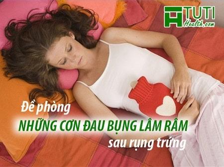 Cần phải đề phòng những cơn đau bụng lâm râm sau rụng trứng