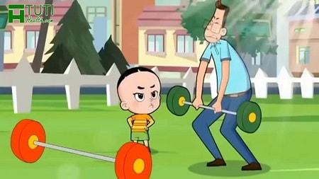 Bộ phim hoạt hình Bố đầu nhỏ Con đầu to
