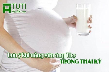 Những lưu ý cần nhớ khi uống sữa ông Thọ trong thai kỳ