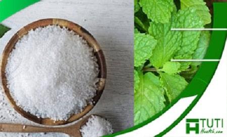 Kết hợp muối với bạc hà