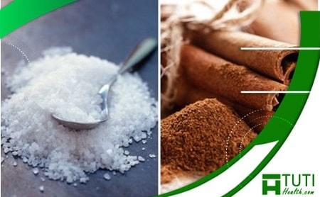 Sử dụng muối và bột quế