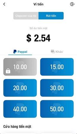 Cách rút tiền trên ClipClaps hết sức đơn giản và nhanh chóng