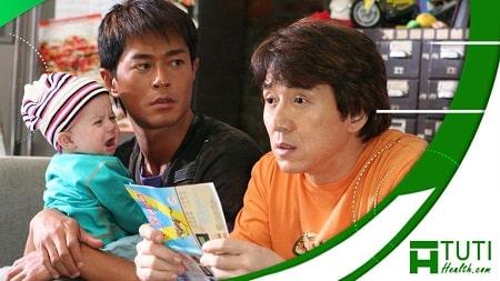 Nam diễn viên Cổ Thiên Lạc kết hợp cùng Thành Long trong bộ phim hành động hài hước Kế Hoạch Baby (2006)