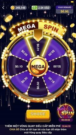 Vòng quay may mắn Mega Spin và Lucky Spin