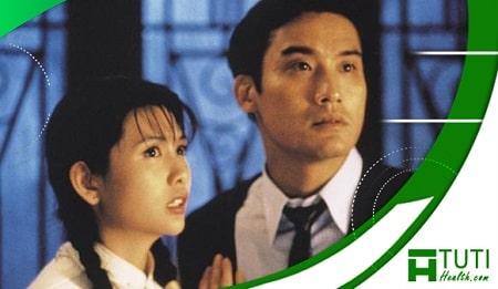 Lồng đèn da người (1993) với diễn xuất của Khâu Thục Trinh và Lương Gia Huy