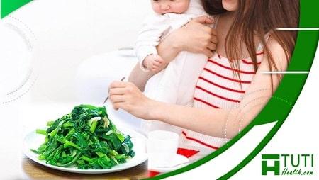 Bà đẻ ăn rau mồng tơi cần lưu ý một số điều