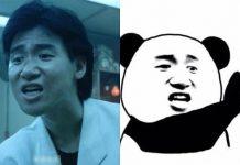 Biểu cảm của tài tử Trương Học Hữu chính là nguồn cảm hứng tạo nên meme panda hài hước cực hot hiện nay